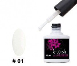 G-Polish French Colour no.1 - Deep-chalk White 10ml
