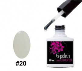 G-Polish French Colour no.20 - Sparkly Clear 10ml