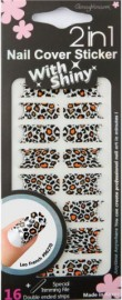 Cover Sticker Leaping Leopard