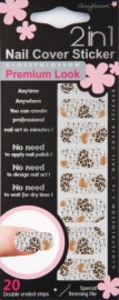 Cover Sticker Leopard Diamond