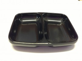 2 Section Black Mixing Dish