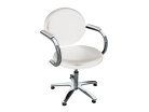 Client Chair with Arm Rest - white