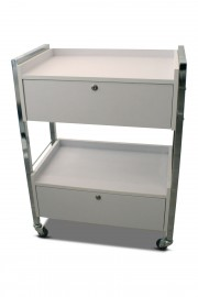 Sturdy 2-Drawer Trolley - White