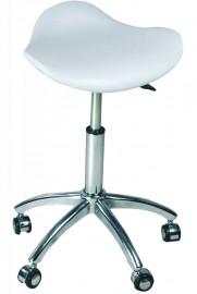 Salon Master Chair/Stool White