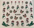 Glitter Christmas Sticker #932