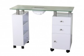 Luxurious Shelf & Cabinet Manicure Table