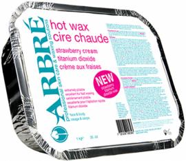 Arbre Hot Wax Strawberry Cream with Titanium Dioxide 1kg