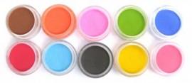 Coloured Acrylic Powder Kit - 10pcs