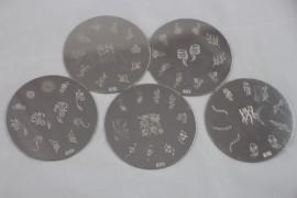 Set of 5 stamping plates