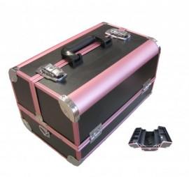 Beauty Case  - Black & Pink