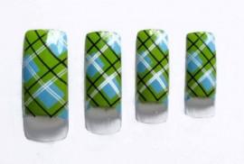 Pre-Designed Tips - Green Check 70pcs FULL WELL