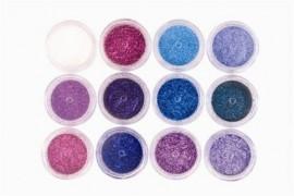 Metallic Blue Glitter Collection 12pcs - Fine