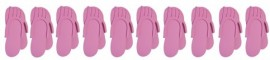 Pedicure Slippers - Pink 10pcs