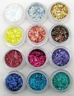 Rainbow Glitter Collection 12pcs - Chunky