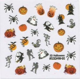 Halloween Sticker - Spiders & Pumpkins